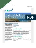 Guardian of Public Health June 2014