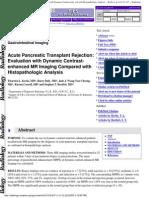Acute Pancreatitis Transplant Rejection