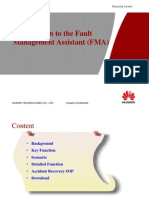 Introduction to the Fault Management Assistant FMA Pptx