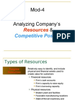 Mod-4 Analyzing Company's Resources & Competitive Position