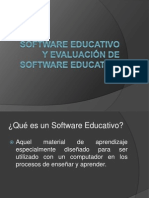Software Educativo y Su Evaluacion