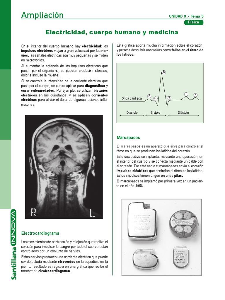 Electricidad,Cuerpo Humano y Medicina