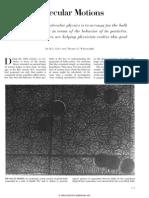 Alder Wainwright - Molecular Motions