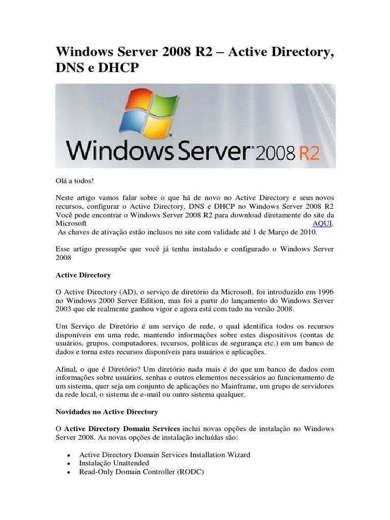apostila windows server 2008 - portugues