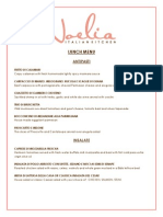 Noelia Lunch Menu