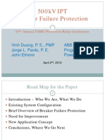 Transmission Duong Pardo & Elmore 500kV BF Protection