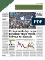 Perú Lanza Mayor Emisión de Bonos en Su Historia_Gestión 13-06-2014