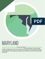 U.S. Chamber of Commerce Foundation · Enterprising States study 2014 · Maryland