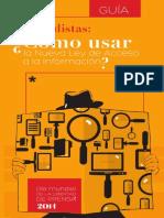 Guía Cómo Usar La Nueva Ley de Acceso a La Información