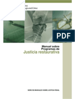 Manual Sobre Programas de Justicia Restaurativa