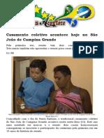 Casamento Coletivo Acontece Hoje No São João de Campina Grande