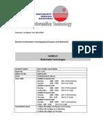 CGMB113 Multimedia Technologies CourseOutlineSyllabus Sem1 2014-15
