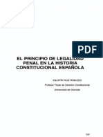 Historia Del Principio de Legalidad en La Legislacion Española