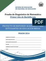 Prueba de Diagnstico- Matemtica -Primer Ao Bachillerato - Praem 2014