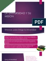 La Universidad y Su Mision