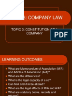 Topic_3 CONSTITUTION OF A COMPANY