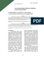Identifikasi Unsur Nikel Dgn Teknik Laser Induced Plasma (LIP)