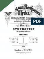 Beethovens Werke Breitkopf & Härel Serie 1 No 8 Achte Symphonie, Op.93, F Dur (Complete Score)
