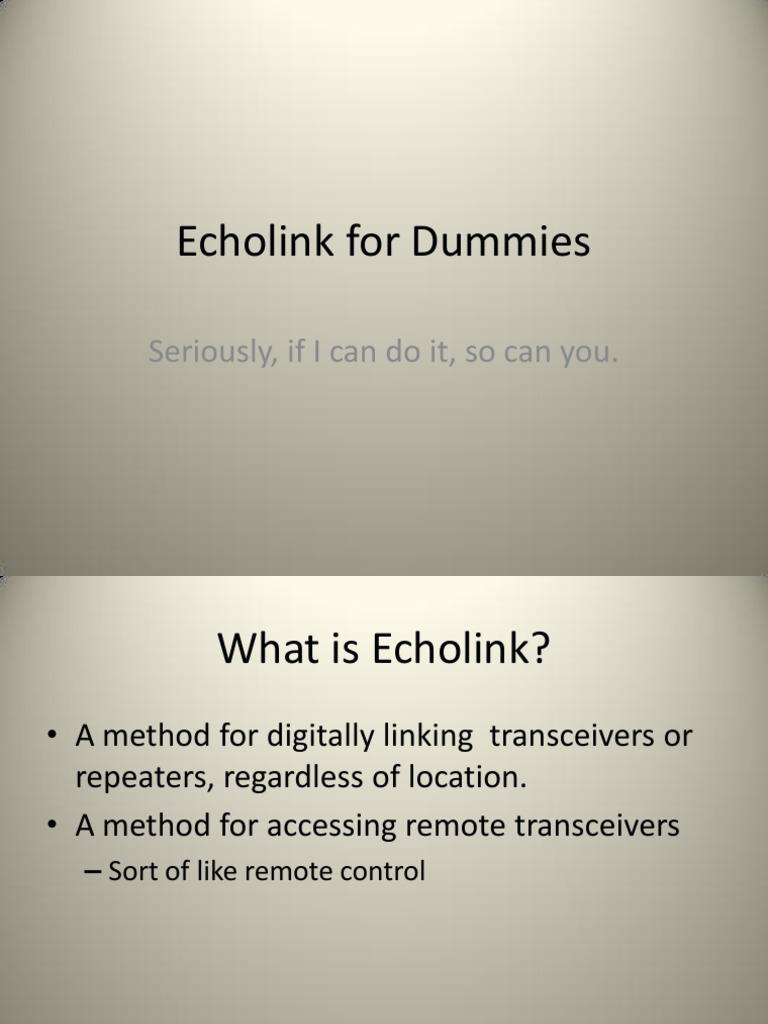 Echolink_NE8K | Port (Computer Networking) | Internet