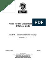 BV NR445 Offshore Units Part a - Classification and Surveys