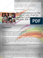 Recommendations by the Youth of Latin America and the Caribbean for the Post 2015 Agenda