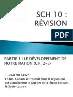 Révision Sch 10 - Partie 1