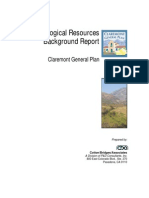 Claremont Gen Plan Biological Report
