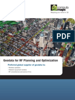 Geodata for RF Planning and Optimization 2012
