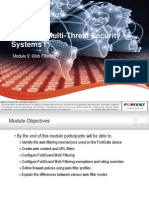 Fortinet 201 FG Web Filtering