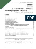 NIS 3003 Expressao Da Incerteza e Confianca Na Medicao e Calibracao
