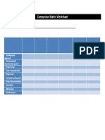 comparison matrix worksheet