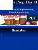 Regents Prep Day 11 Absolutism, Enlightenment, French Revolution
