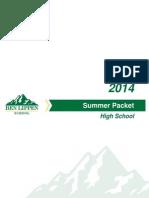 Ben Lippen High School Summer Packet 2014
