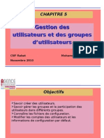Gestion Utilistauers Groupes v0