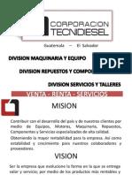 Presentación División Talleres y Servicios Corporación TecniDiesel