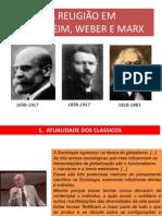 A Religiao Em Durkheim Weber Marx