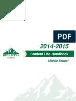Ben Lippen Middle School Student Life Handbook 2014-2015