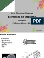 - Elementos de Maquinas 01a - Introducao