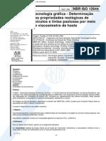 NBR 12644 - Tecnologia Grafica - Determinacao Das Propriedades Reologicas de Veiculos E Tintas Pa
