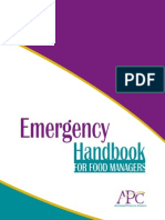 Crisis Emergency Handbook for Food Managers