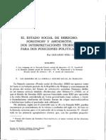 Gerardo Meil Landwerlin. Estado Social de Derecho Forsthoff y Abendroth