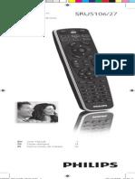 Philips Sru5106 27 Dfu Aen Learning Remote