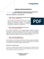 Diplomado y Especializacion Astm - Fechas- Instructores 2014