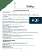 CCA Headlines June 9 - 13, 2014