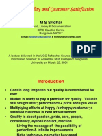literature review on customer satisfaction A review of the literature regarding the constructs of service quality, customer  service quality and customer satisfaction:     eshghi, roy and ganguli.