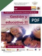 Actividades  Gestion y Desarrollo Educativo II