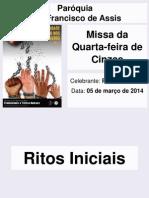 2014 03 05 Missa de Cinzas Corrigida