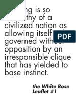 the White Rose Leaflet 1
