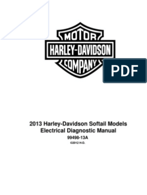 2013 HD Softail Electrical Diagnostics | Harley Davidson