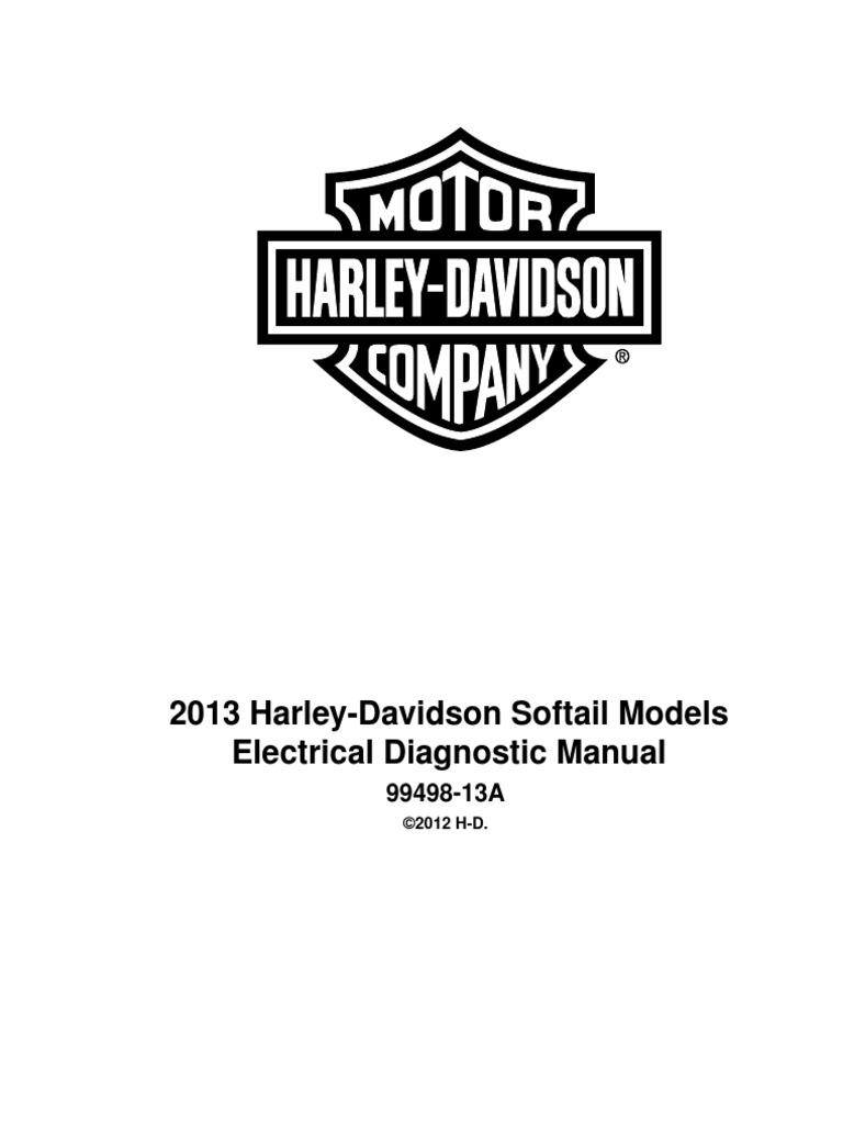 2013 HD Softail Electrical Diagnostics | Harley Davidson | Manufactured  Goods